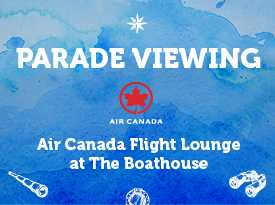 Brunch and Parade Viewing at The Boathouse - Opens in New Window
