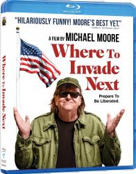 Michael Moore's WHERE TO INVADE NEXT on Blu-ray!