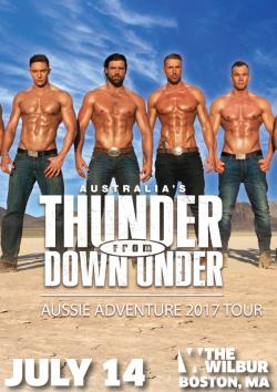 Tickets to see THUNDER FROM DOWN UNDER on July 14 at 7PM at The Wilbur!
