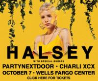 Tickets to see HALSEY on October 7 at Wells Fargo Center!