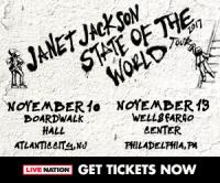 Tickets to see Janet Jackson on November 13 at 8pm at Wells Fargo Center!