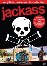 """jackass complete movie and tv collection"" on DVD!"