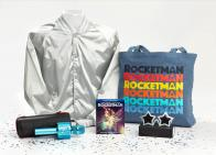ROCKETMAN Grand Prize including Blu-ray, Jacket, Wireless Mic, Tote, and Sunglasses!