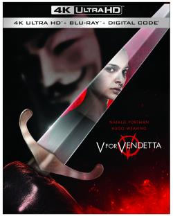 V FOR VENDETTA on 4K Ultra HD, Blu-ray, & Digital!