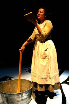 Kami Smith as Harriet Jacobs in Harriet Jacobs, playing at the Central Square Theater through January 31