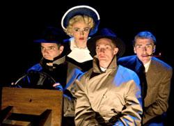 The cast of the national tour of The 39 Steps.