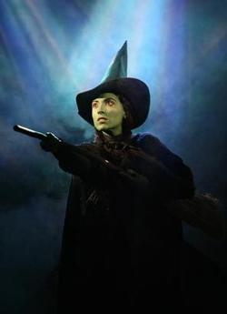 Donna Vivino as Elphaba The  Wicked Witch of the West in Wicked