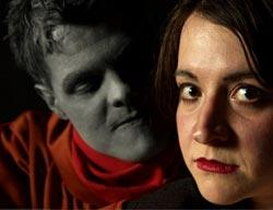Nick Miller and Leda Ueberbacher star in On This Moon, playing through April 24 at the Arsenal Center for the Arts