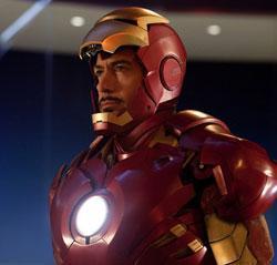 "Robert Downey Jr. reprises his role as ""Iron Man"""