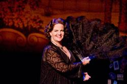 Mary Callanan stars in the New Rep's cabaret-style summer show, Sophie Tucker: The Last of the Red Hot Mamas