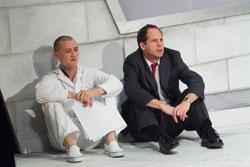 Tim Eliot (left) as Mike and Benjamin Evett as Danny in Cherry Docs, continuing through Nov. 7 at the Arsenal for the Arts