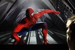 "A scene from ""Spider-Man: Turn Off The Dark"""
