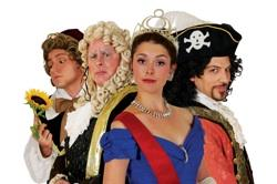 """David Macaluso as Archibald Grosvenor in """"Patience"""", Stephen O'Brien as The Lord Chancellor in """"Iolanthe"""", Sarah Caldwell Smith as The Princess of Monte Carlo in """"The Grand Duke"""", David Wannen as The Pirate King in """"The Pirates of Penzance"""""""