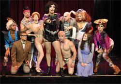 "The cast of ""The Rocky Horror Show"" at Oberon"