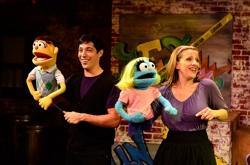"Nick Arapoglou and Mary Nye Bennett in ""Avenue Q"""