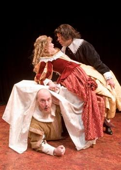 "Don Brady, Jesse Notehelfer, and Frank Lawler in ""Tartuffe"""
