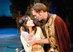 """Imogen and Posthumous (Carey Urban and David Hardie) are the young lovers at the heart of """"Cymbeline."""""""