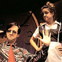 "Chris Ekholm & Lala Cochran in ""The Waffle Palace"""