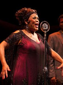 "Yvette Freeman stars in ""Ma Rainey's Black Bottom,"" continuing through April 8 at BU Theatre, 264 Huntington Avenue, Boston"