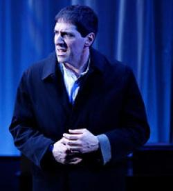 "Nicholas Viselli portrays Shylock in ""The Merchant of Venice"" at the Clurman Theater"