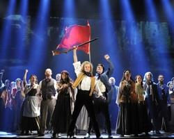 "The cast of ""Les Miserable"" at the Fox Theater"