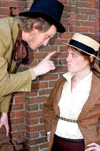 Cameron Beaty Gosselin and Louise Hamill star in 'Trog and Clay,' continuing through May 12 at The Factory Theater
