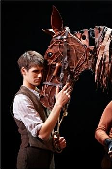 "The cast of ""War Horse"" at the Ahmanson Theatre"