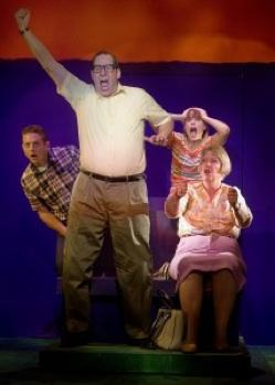 "Ian Lindsay,  Robert Gallaher, Helen Harvester and Kim Morris in ""Leaving Iowa"""