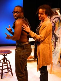 "Akeem Davis and Phyllis Johnson in ""Etched in Skin on a Sunlit Night"""