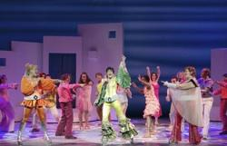 "The cast of ""Mamma Mia"" at Music Hall at Fair Park."