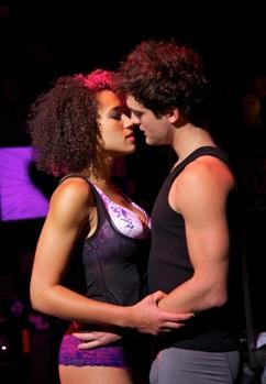 "Gabrielle McClinton (Whatshername) and Van Hughes (Johnny) in ""American Idiot"""