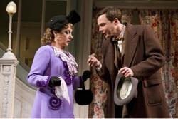 "Carol Kane and Jim Parsons in ""Harvey"""
