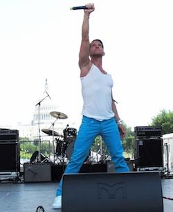 Aiden Leslie performs at DC PRIDE. He'll be in NYC this weekend.