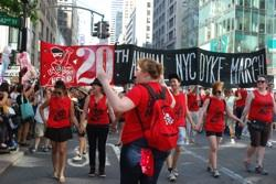 Marchers take Fifth Avenue, lead by Rebecca Triglianos