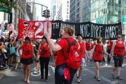 Marchers take Fifth Avenue, lead by Rebecca Triglianos
