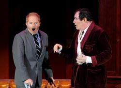 "Jesse Tyler Ferguson and as Leo Bloom and Richard Kind reprising his mid-'00s turn as Max Bialystock in ""The Producers"" at the Hollywood Bowl"