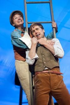 """Dana Green as Rosalind and Dan Amboyer as Orlando in The Old Globe's Shakespeare Festival production of William Shakespeare's """"As You Like It"""""""