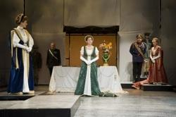 "Corinna May, Jonathan Epstein, Kelly Gavin, Bill Watson, and Kristin Wold in ""King Lear"""