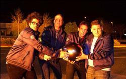 """Richard Ayoade, Vince Vaughn, Ben Stiller and Jonah Hill in """"The Watch"""""""
