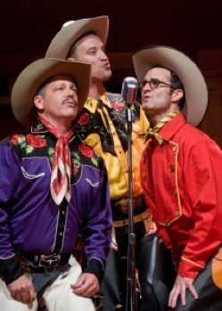 "William Hamer, Simon Pringle and Sam Vance in ""Chaps!"""
