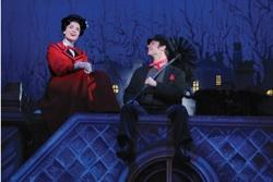 "Rachel Wallace and Nicolas Dromard in ""Mary Poppins"" at the Ahmanson Theatre"