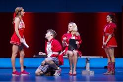 "Taylor Louderman, Neil Haskell, Kate Rockewll and Janet Krupin in ""Bring It On: The Musical"""