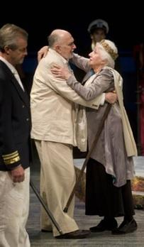"James Read as Apollo and Olympia Dukakis as Prospera in ""The Tempest"""