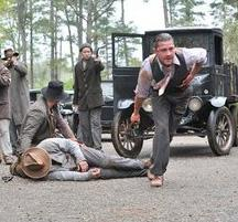 "This film image released by The Weinstein Company shows Shia LaBeouf, right, in a scene from ""Lawless."""