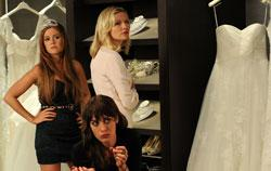 "Isla Fisher, Kirsten Dunst and Lizzy Caplan in ""Bachelorette"""