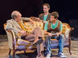 Ken Baltin, Nael Nacer, and Fahim Hamid star in 'The Kite Runner,' continuing through Sept. 30 at the New Rep