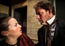 Anya Krawcheck as Effie and Todd Hamilton as John Ruskin in 'The Countess'