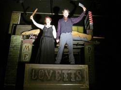 Phil Meyer as Sweeney and Amanda Carlin as Mrs. Lovett.