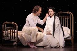 Brandon Jovanovich as Pinkerton and Oksana Dyka as Cio-Cio-San