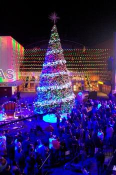 Last year's tree lighting at Universal Studios